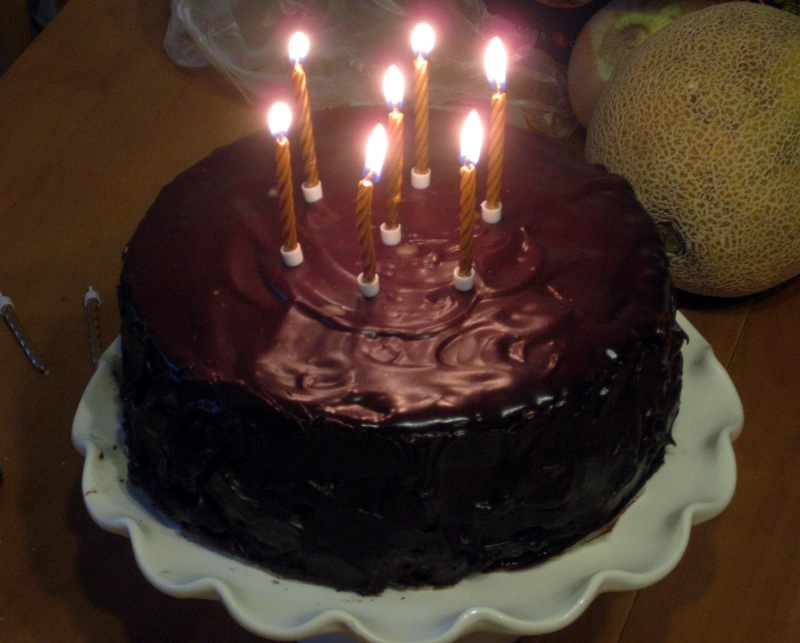 Chocolate Cake Images Birthday With Candles : She Manufactures: Double Coconut German Chocolate Cake