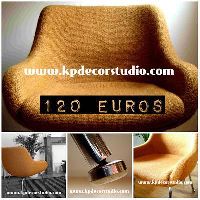 silla vintage años 70 estilo retro de diseño