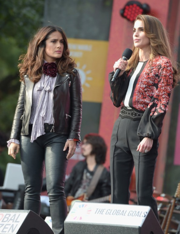 Queen Rania In Giambattista Valli At The 2015 Global Citizen Festival