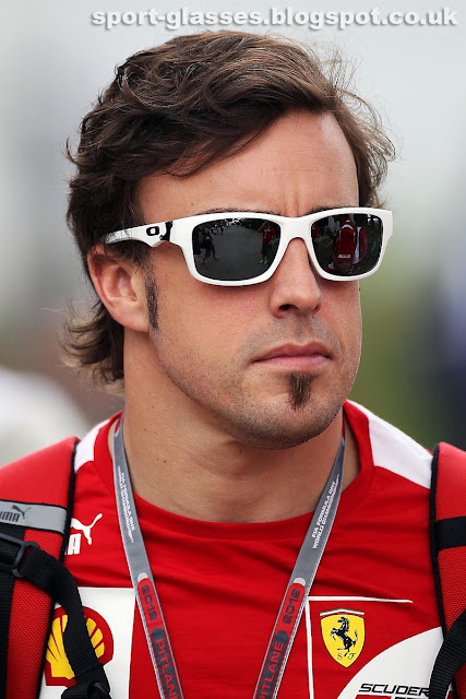 Fernando Alonso at Malaysian GP 2012 in White Oakley Jupiter Squared