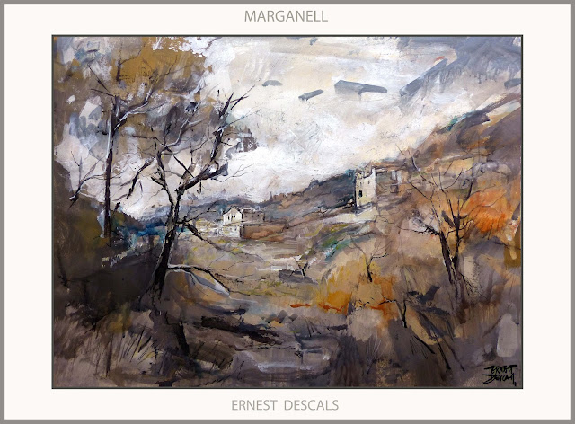 MARGANELL-PAISATGES-PINTURA-CATALUNYA-HIVERN-PINTURES-MONTANYES-PINTOR-ERNEST DESCALS-