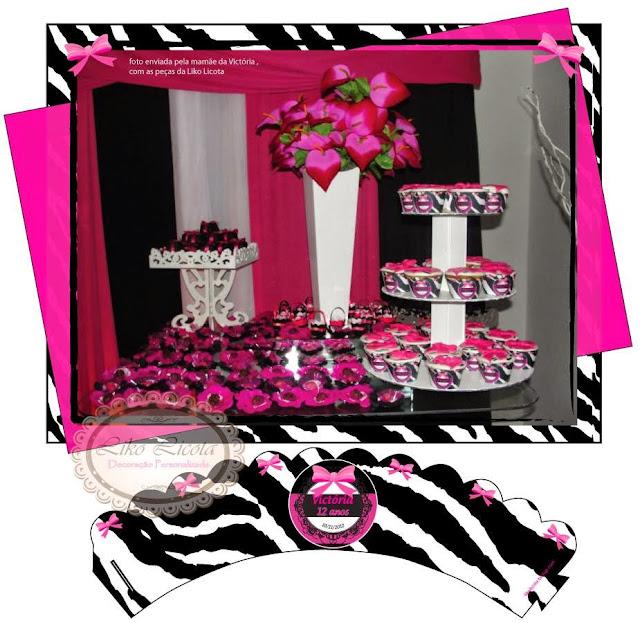 festa rosa e zebra