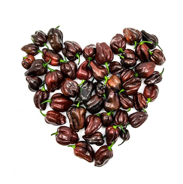 Chocolate habanero heart hot