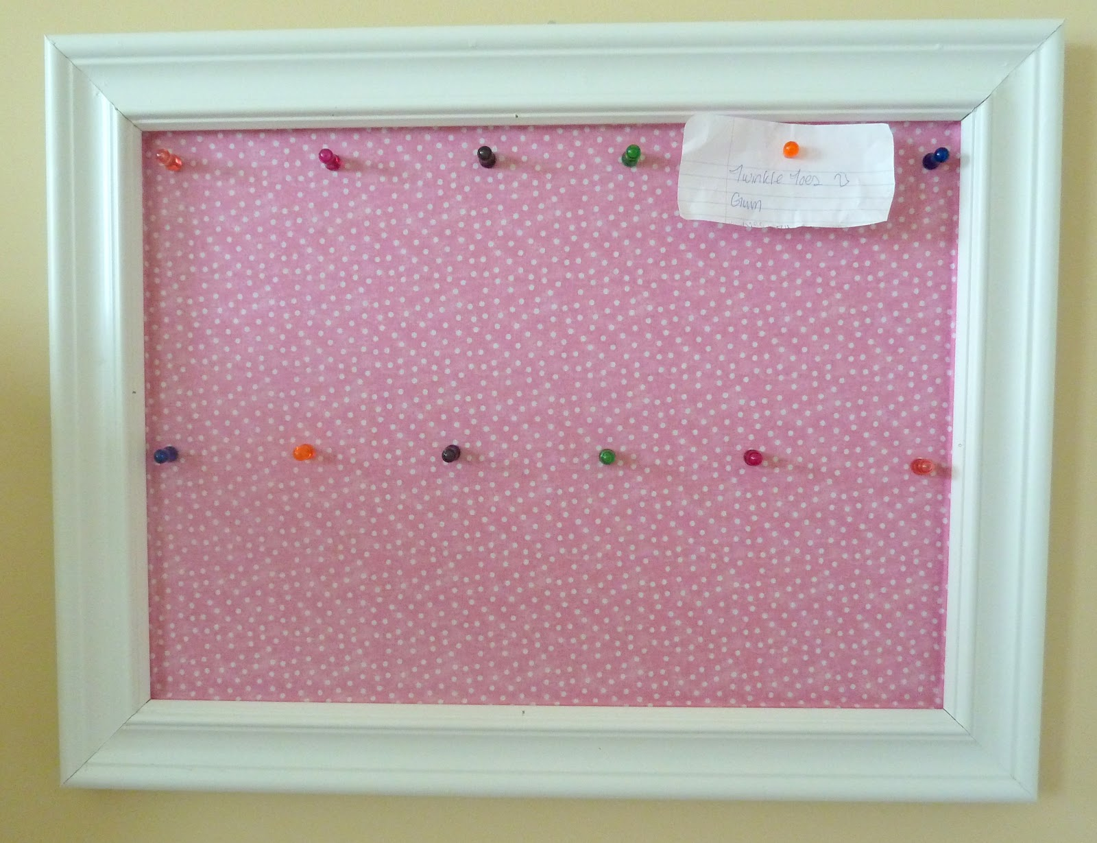 super cute bulletin board make over