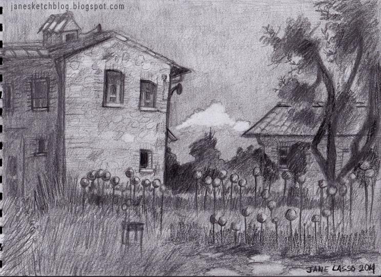Dibujo de paisaje a lápiz
