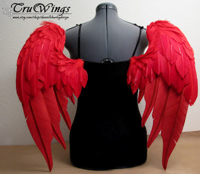 Danielle Hurley TruWings Red Angel Wings Costume