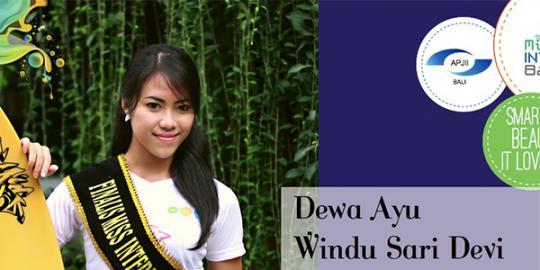 Dewa Ayu Windu Sari Devi Miss Internet Pertama Indonesia
