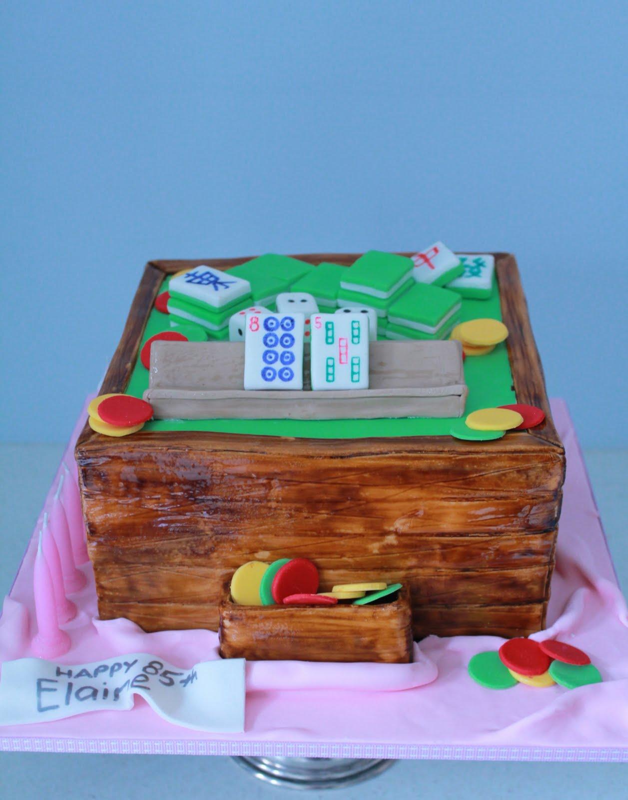 Mahjong Cake Decorations