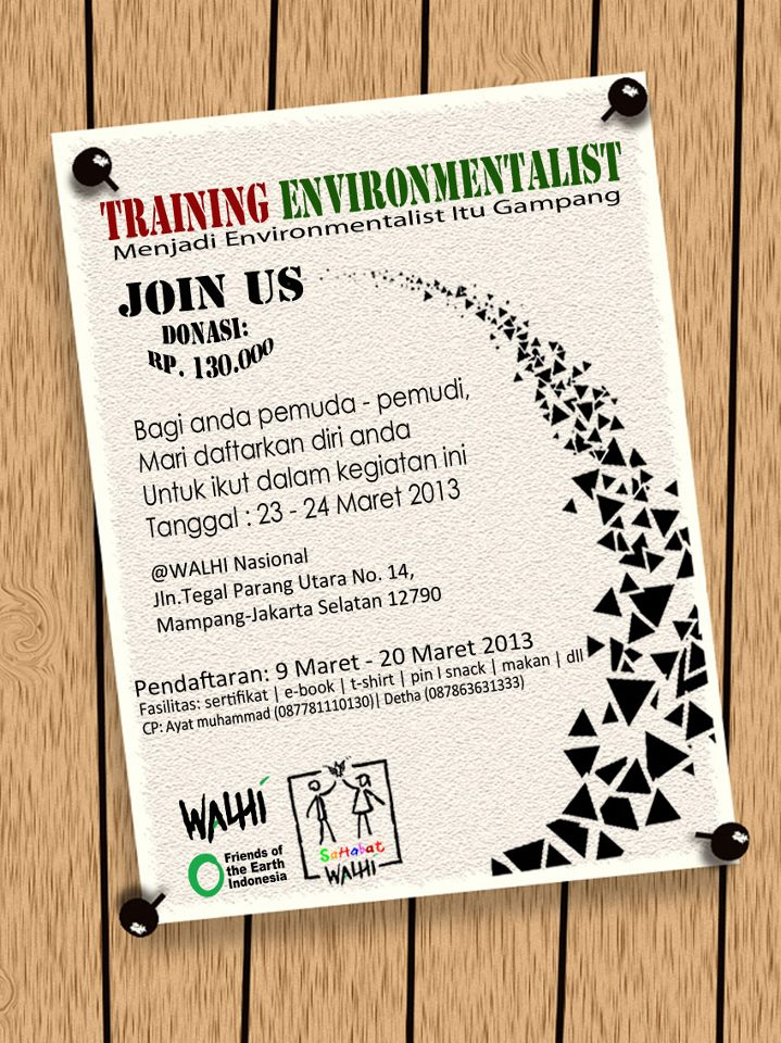 Training Environmentalist Buat Kalangan Pemula