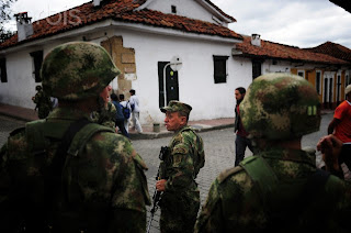 Colombian Soldiers Bursted With Cocaine