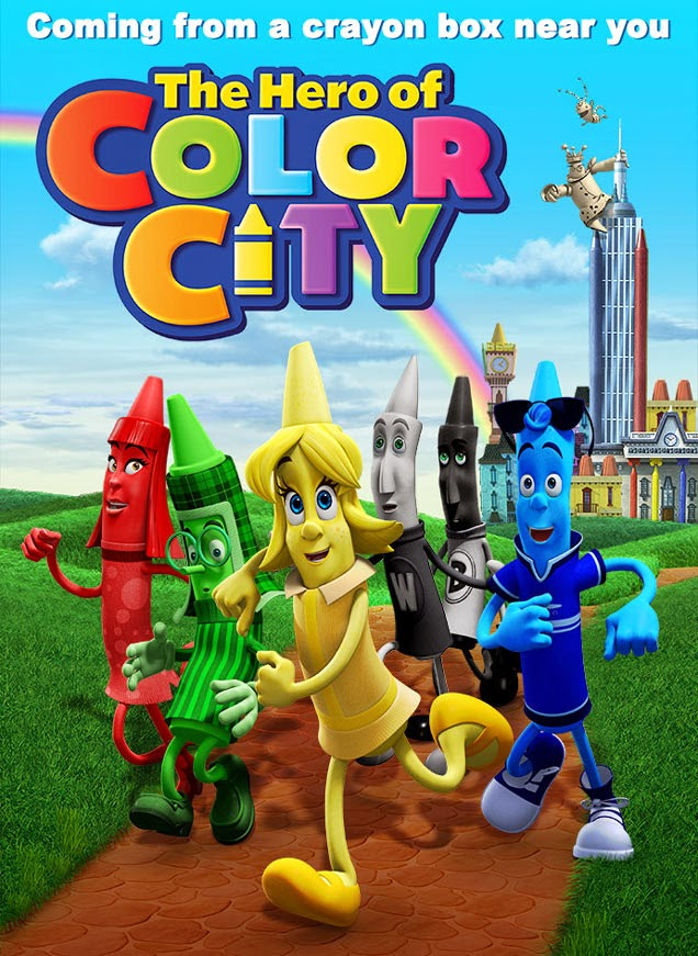 The Hero of Color City (2014) Poster