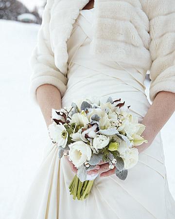 Real Wedding Wednesday Martha Stewart Winter Wedding La Bottine Couture