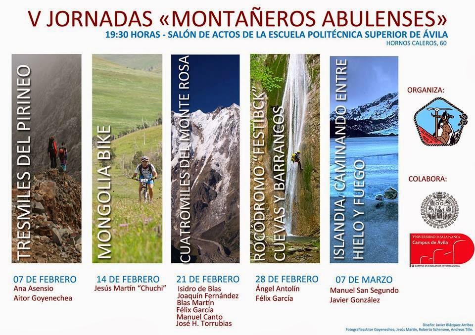 Cartel V Jornadas Montañeros Abulenses