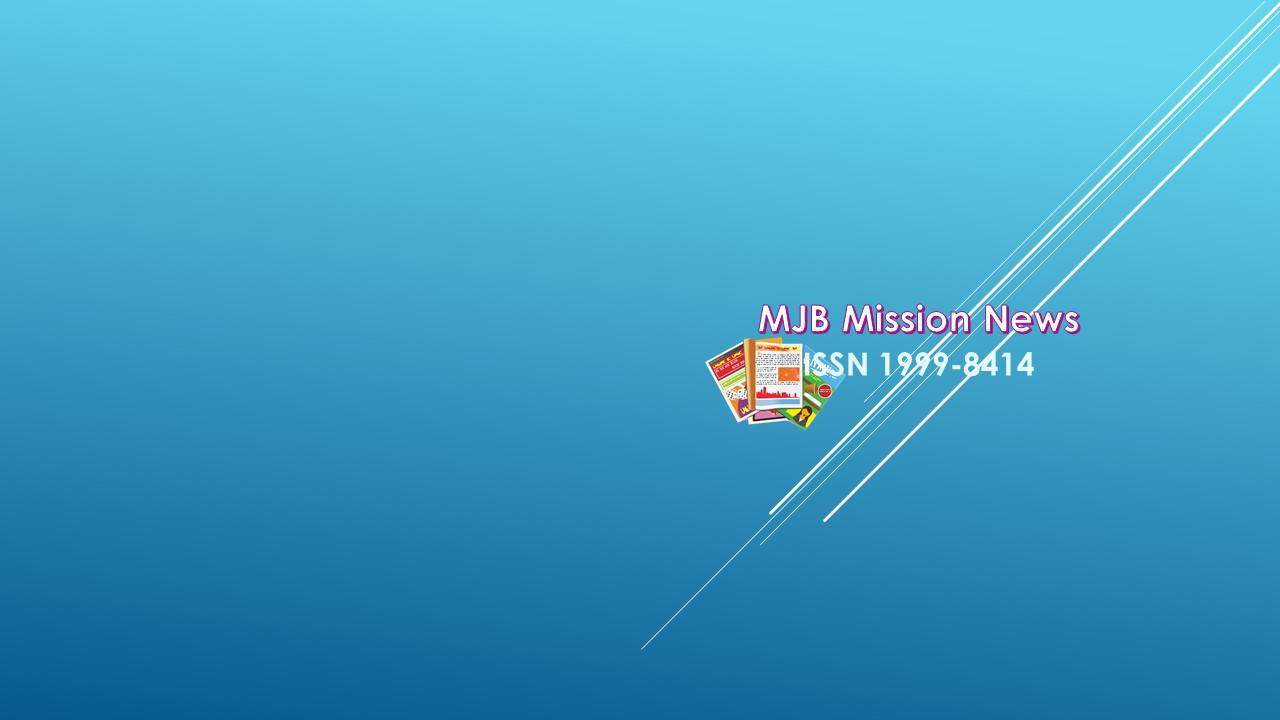 MJB Mission News