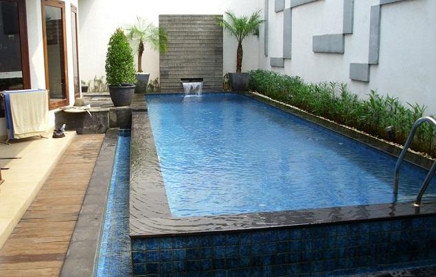 ukuran kolam renang rumah minimalis