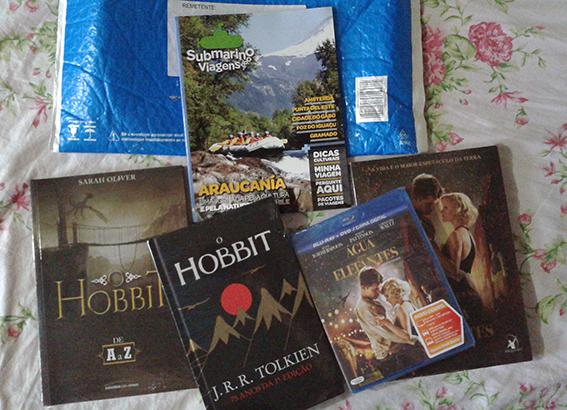 livros o hobbite água para elefantes filme