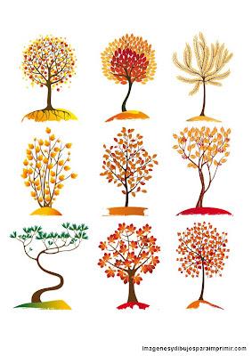 Arboles de otoño para imprimir