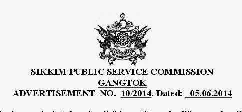 Sikkim Public Service Commission Assistant Geologist Geology recruitment