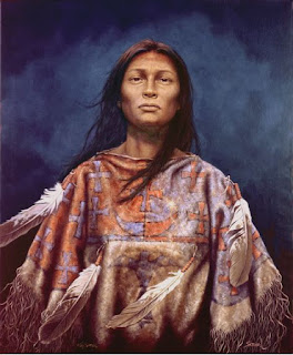 Natane Daughter of the Ghost Dance by Kirby Sattler