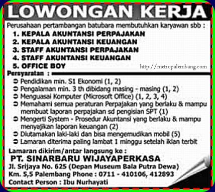 Lowongan Kerja Terbaru 2018 Palembang