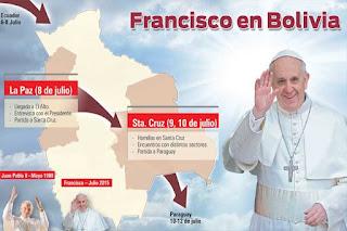 llegada papa francisco bolivia