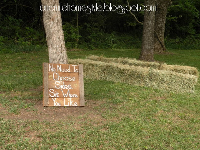 Wedding Ceremony barn board sign