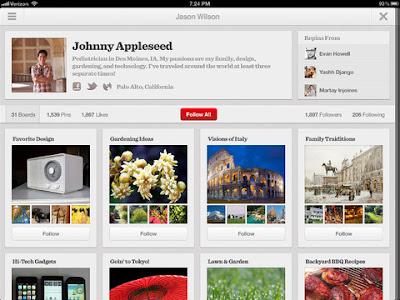 Pinterst iPad App image 001
