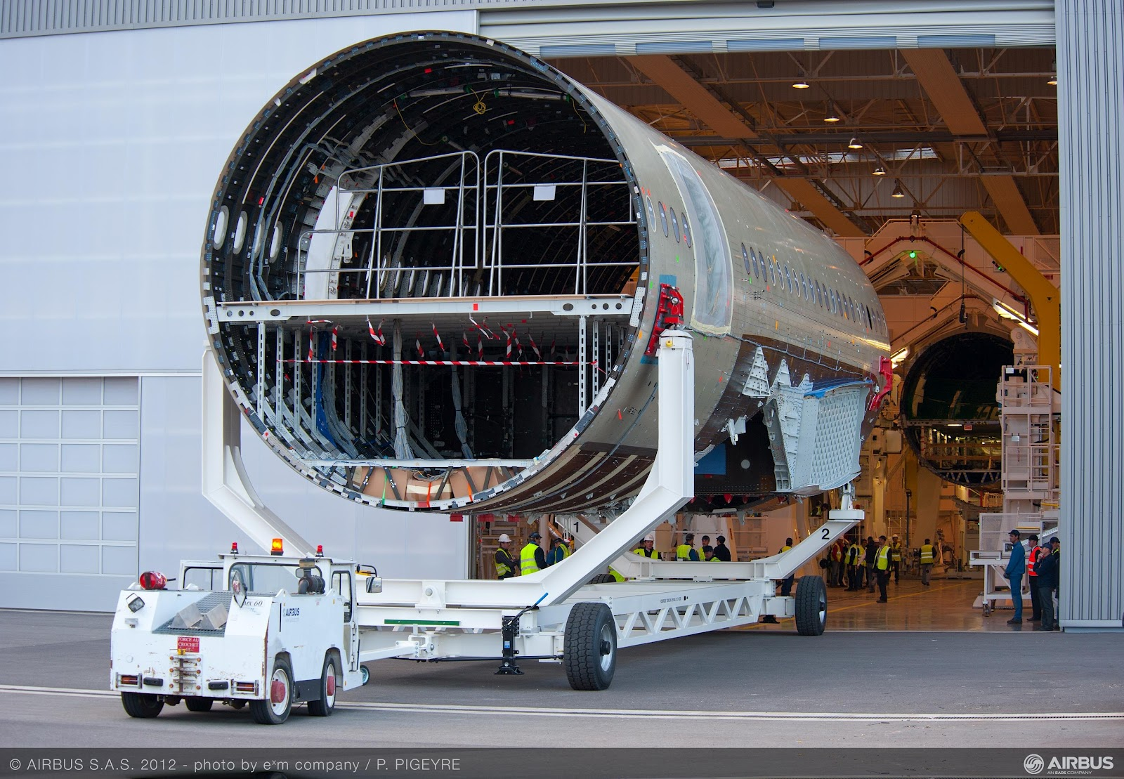 Airbus A350 XWB enters final assembly line FAL