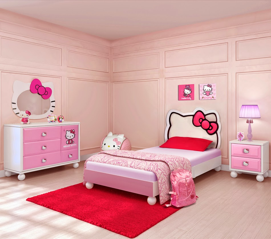 Hello kitty bedroom wallpaper