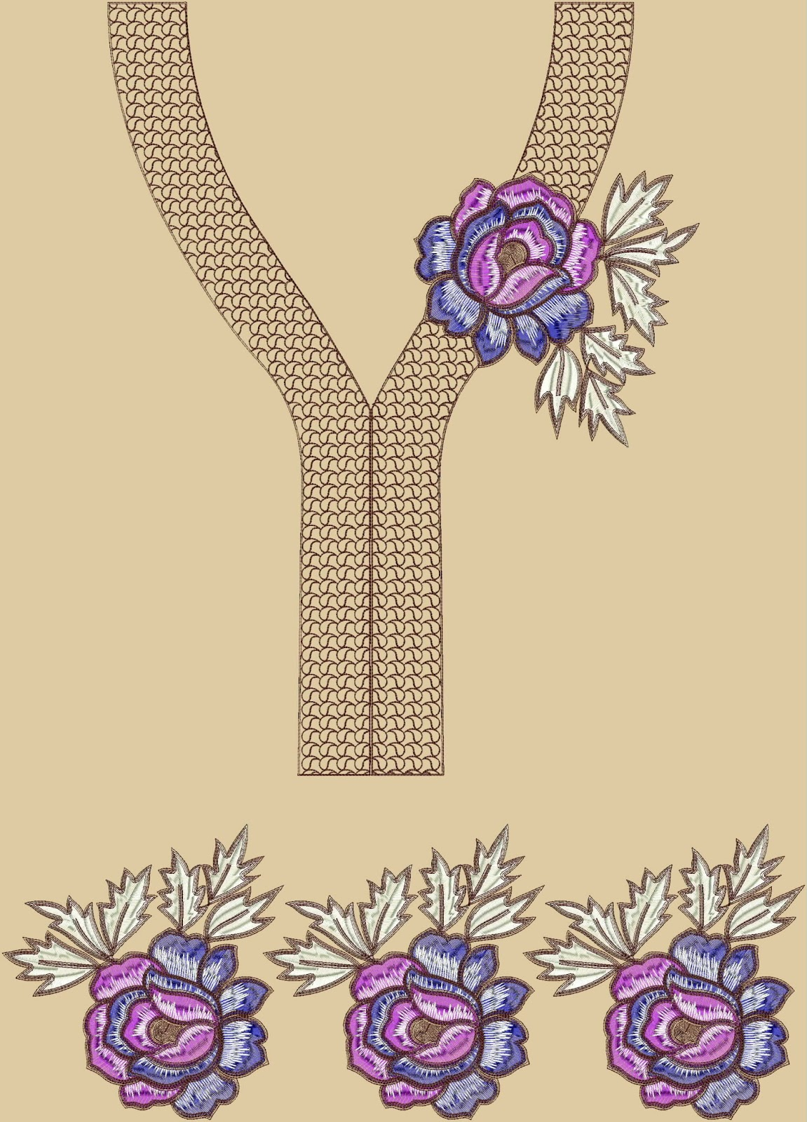 Embdesigntube casual kurti neck collection embroidery designs