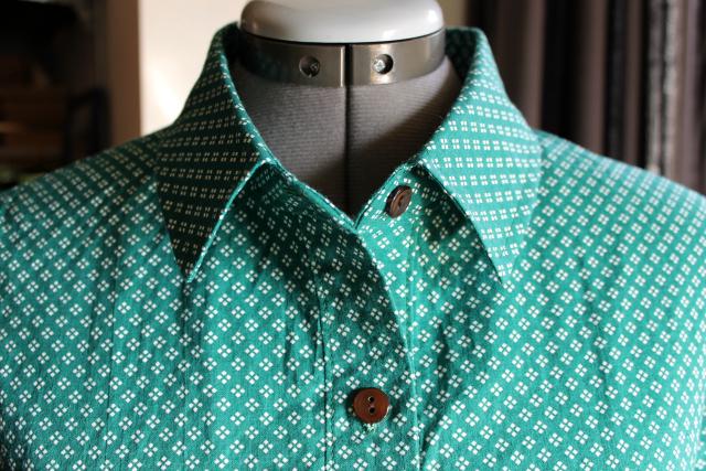 Button Collar Dress Pattern
