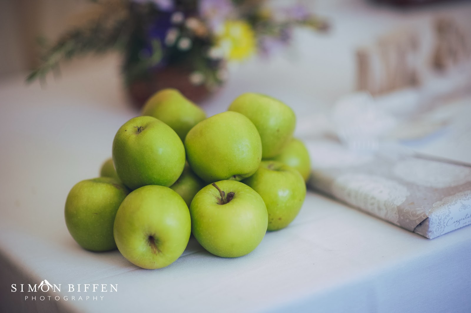 Table decor at Quantock Lakes wedding