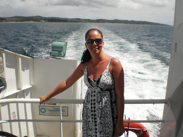 Tia Jaci na ilha de Itaparica!