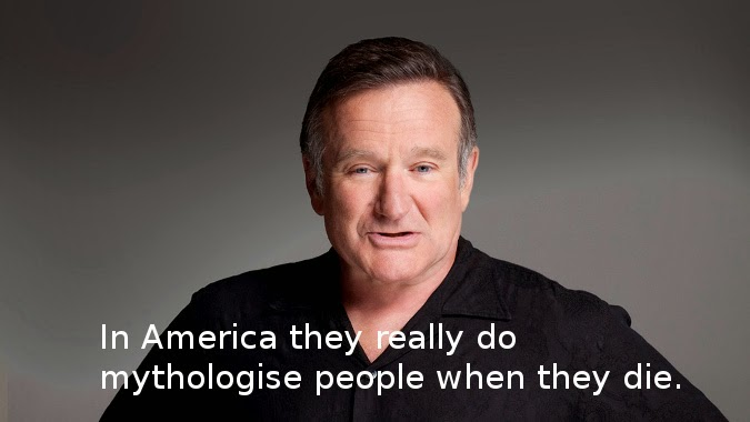 Robin Williams quote about people dying