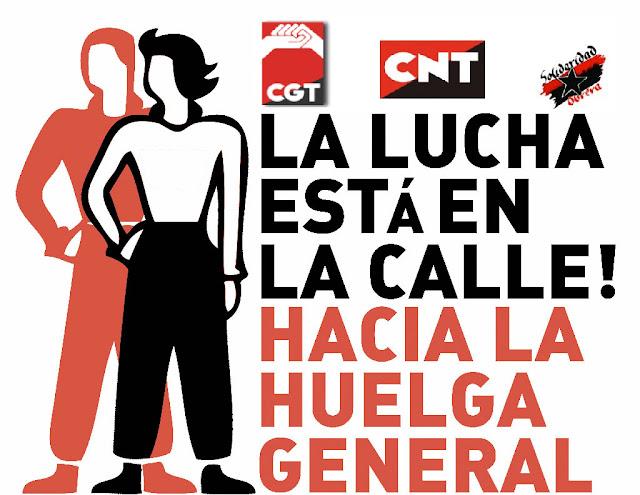 cnt solidaridad obrera cgt huelga