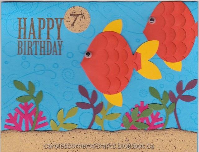 Caroles Corner Of Crafts Milestone Birthday 7 Year Old B07b