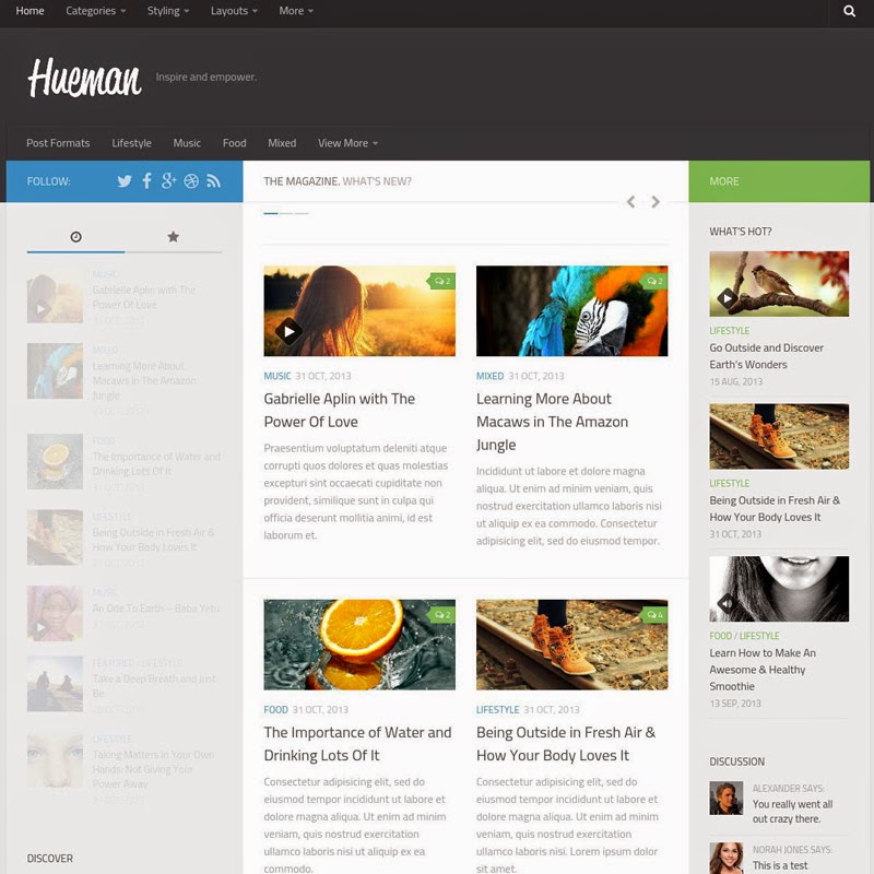 Hueman free responsive wordpress themes