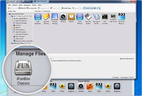 برنامج مجاني لإدارة أجهزة وملفات وتطبيقات الايفون والايباد من الكمبيوتر i-FunBox 2014
