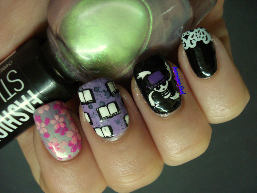 baroque fool: 40 Great Nail art Ideas challenge: Pink + Lilac + ...