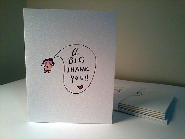 Thank You Cards via www.bellaandblackstone.com