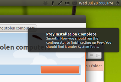 Setup and Run Prey in Ubuntu 11.04