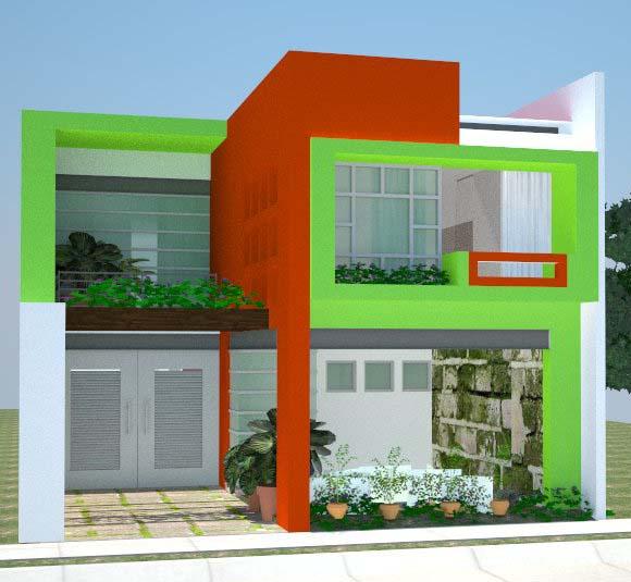 rumah warna hijau muda submited images