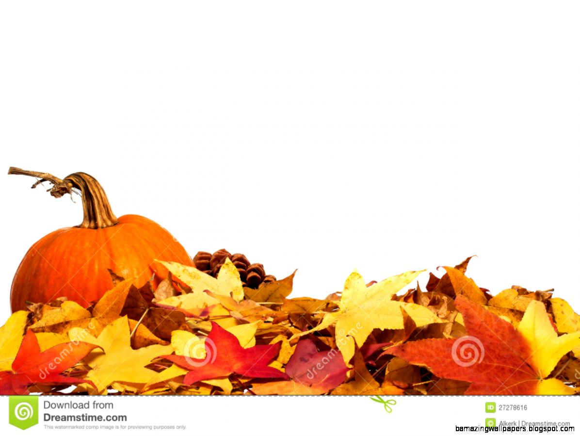 Autumn Border With Pumpkin Royalty Free Stock Image   Image 27278616