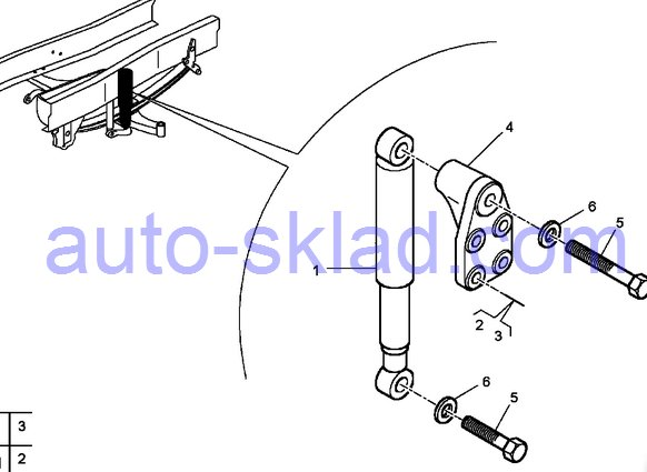 Передние амортизаторы Рено керакс DXI11
