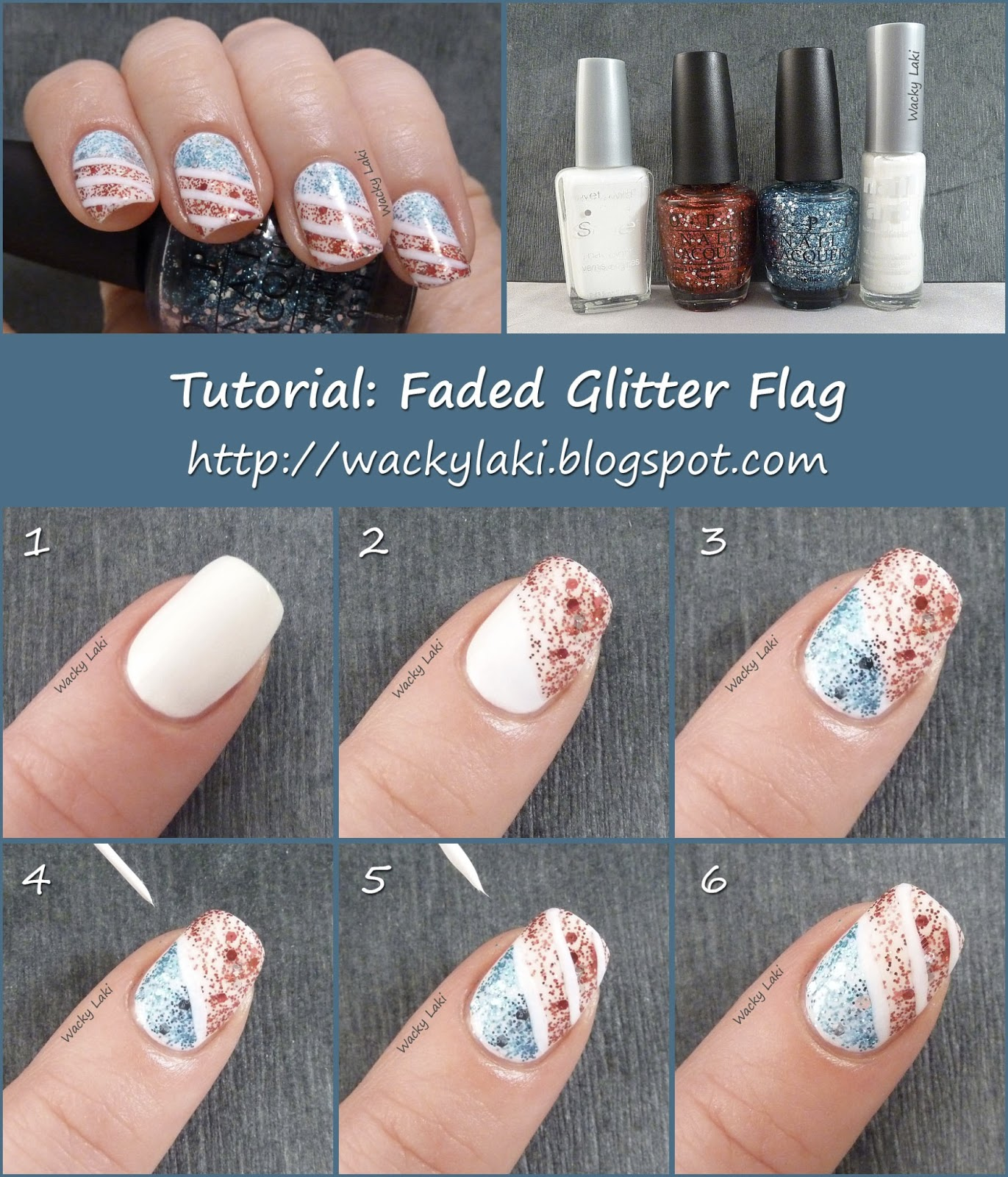 Glitter Fade Nail Polish Tutorial Hession Hairdressing