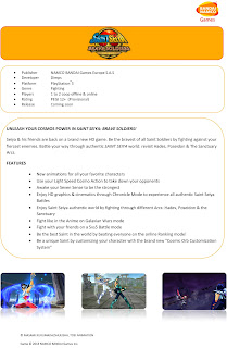 saint seiya brave soldiers knights of the zodiac fact sheet Saint Seiya: Brave Soldiers   Knights of the Zodiac (PS3)   Logo, Fact Sheet Image, & Trailer