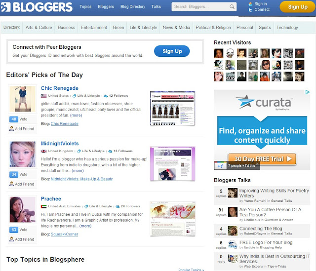 Bloggers.com Home Page