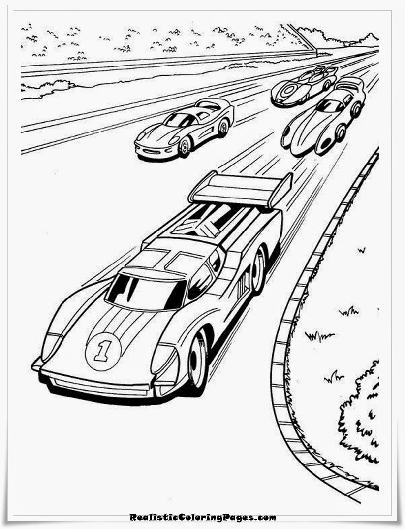 HotWheels Cars Coloring Pages To Print