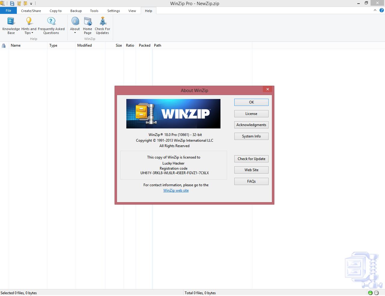 Winzip v 10 11 12 keygen serial key license crack activator works