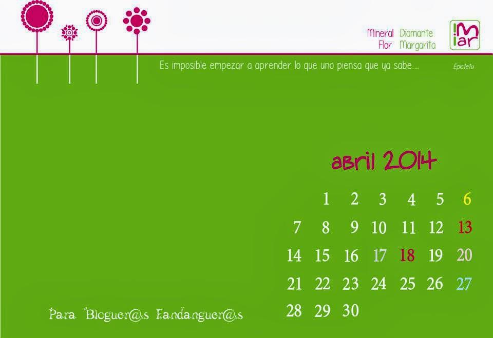 calendario Abril cuatro